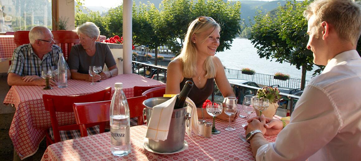 Restaurant Baudobriga Rheinblick