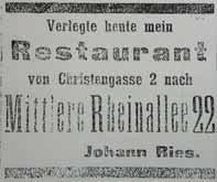 Zeitungsanzeige im April 1915